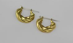 The Twist hoops in Gold-sterling silver ear post-made in solid bronze by BreakAstone on Etsy