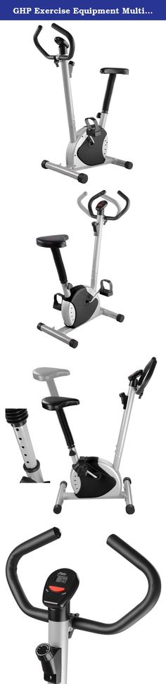 GHP Exercise Equipment Multi-Resistance Adjustment Black Exercise Bike. Our brand new Fitness Exercise Bike. It's suitable for people at any age. It's great for building muscle strength, blood circulation and body coordination. Features: Multi resistance adjustment Seat vertical adjustable system Handle pulse sensor Computer for scan, time, speed, distance, calories Sturdy frame and non-slip feet for safety and efficient Ideal for body exercise and body slim Great for use at home, office…