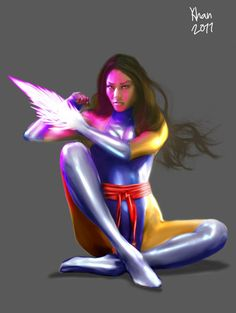 Psylocke by valadorf on DeviantArt Comic Book Heroines, Comic Books, Wet Tee Shirt, Psylocke, Marvel Comics, Fantasy Art, Wonder Woman, Deviantart, Illustration