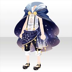 Moonlit night of astrologia Chibi, Character Creation, Character Concept, Moda Lolita, Kleidung Design, Anime Dress, Model Outfits, Drawing Clothes, Character Outfits
