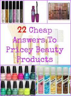 22 Cheap Answers To Pricey Beauty Products- personally I don't like wet and wild or elf but there are a lot of other well reviewed products on here