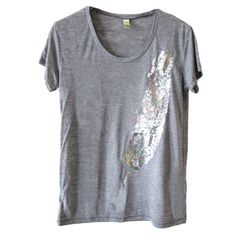 Feather Scoop Tee Women's in  from Fab on shop.CatalogSpree.com, your personal digital mall.