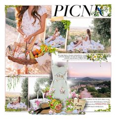 """""""Picnic in the Park"""" by perplexidadesilencio ❤ liked on Polyvore featuring Oasis, Eugenia Kim, floral, flats, picnic, floralprint and floraldress"""