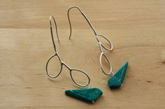 Turquoise bird earrings from Etsy