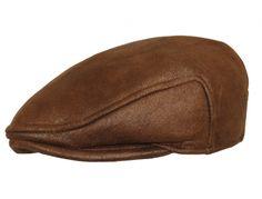 Casquette plate Herman imitation cuir Marron #chapeau #fashionweek #mode #chic #homme