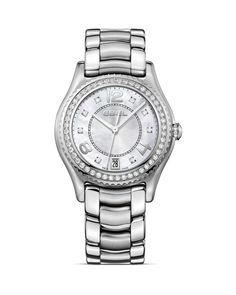 Ebel Stainless Steel Diamond Marker Watch, 34mm