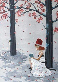 Parece que el otoño va llamando a la puerta. Se respiran cambios estacionales, también en la lectura (ilustración de José Luis Espuelas)