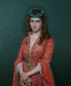 Portrait of an unknown Ottoman Lady