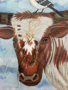 We love this Lazy Day in Texas needlepoint, designer unknown