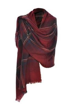 Really Wild Clothing Co. Cashmere Mix Wrap in Claret - $220