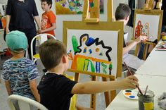 Das Malstudio für Kinder. Im Kunstmuseum Waldviertel in Schrems.