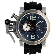 GRAHAM CHRONOFIGHTER OVERSIZE BLACK RANGER Pre Owned Watches, Breitling, Luxury Watches, Omega Watch, Graham, Ranger, Rolex, Buy And Sell, Stuff To Buy