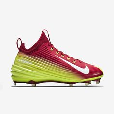 48230c748316 Nike Mens Size 12.5 Lunar Vapor Mike Trout 2 Metal Baseball Cleats Green  New   eBay