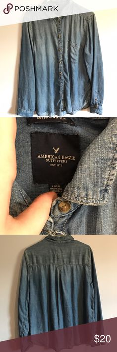 Jean button down NWOT American Eagle Outfitters Tops Button Down Shirts