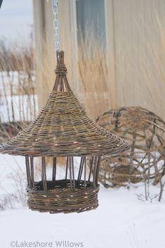 Basketry - lakeshore willows  Willow bird feeder