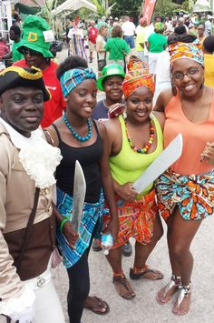 Celebrating St. Patrick's day and Liberation Day on the Island of Montserrat.
