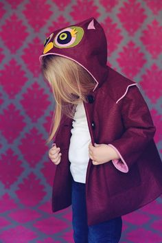 Sweetheart Owl Girls Coat by littlegoodall on Etsy, $155.00  @Stacey Zidek - Wouldnt this be cute on Brooke?