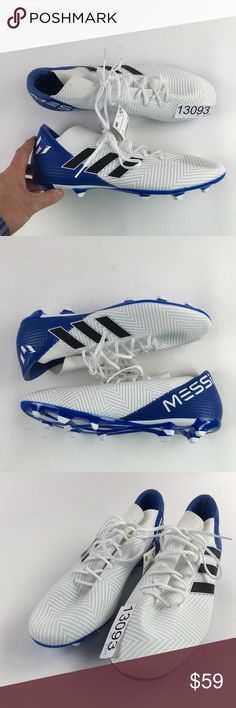 f03900b54b34 Adidas Cleats Messi Soccer Shoes C5413093 Adidas Blue White DB2111 Nemeziz  Messi 18.3 Soccer Shoes Sz
