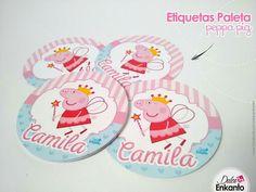 Peppa pig etiquetas paleta de caramelo