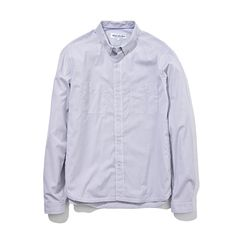 White Mountaineering/COTTON OXFORD STRIPE WORK SHIRT