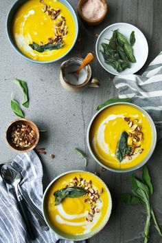 Butternut Squash Coconut & Turmeric Soup | The Green Life