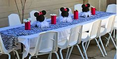 Decoración para fiestas de Minnie Mouse.