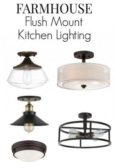 Farmhouse Kitchen Lighting Ideas is part of Hallway lighting Flushmount - No room for pendant lighting in your small kitchen Here are 8 flush mount kitchen lighting fixture ideas that will add that farmhouse style to your room Flush Mount Kitchen Lighting, Small Kitchen Lighting, Kitchen Lighting Over Table, Farmhouse Kitchen Lighting, Kitchen Lighting Fixtures, Diy Kitchen Decor, Farmhouse Style Kitchen, Farmhouse Design, Farmhouse Ideas
