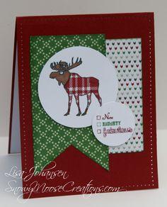 Stampin Up Visions of Santa Snowy Moose Creations: Moose Fabulous