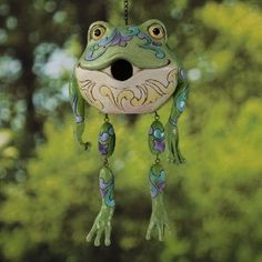 Jim Shore Heartwood Creek Frog Birdhouse