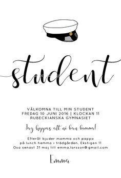 student inbjudningskort - Sök på Google