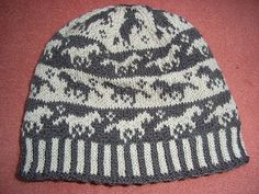 Ravelry: Horse beanie pattern by Sandra Jäger Fair Isle Knitting Patterns, Knitting Charts, Loom Knitting, Crochet Patterns, Knitting Projects, Crochet Projects, Knit Crochet, Crochet Hats, Horse Pattern