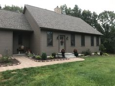 Gray Houses, Salt Box, New England Style, House Colors, Colonial, Teak, Home Goods, Cape, This Is Us