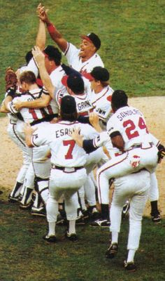 The Braves become the first team in National League to go from worst to first, winning the 1991 pennant.