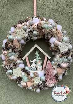 Advent, Christmas Wreaths, Holiday Decor, Home Decor, Mint, Decoration Home, Room Decor, Home Interior Design, Home Decoration