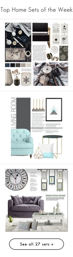 """Top Home Sets of the Week"" by polyvore ❤ liked on Polyvore featuring interior, interiors, interior design, home, home decor, interior decorating, Threshold, Lene Bjerre, House Doctor and Kate Spade"