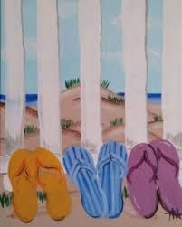 4ee302b17 Image result for flip flop canvas paintings