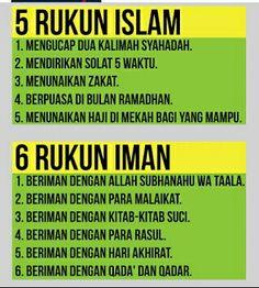 Rukun Islam dan Rukun Iman #Islam #moeslem