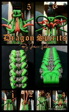 """Dragon Spirits"" paracord braclet by Jason Lake"