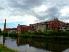 ancienne usine de Vincey, Vosges, France.