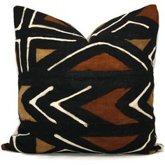 Mud Cloth Pillow Decorative Pillow Cover Brown and Ocher Geometric... ($35) ❤ liked on Polyvore featuring home, home decor, throw pillows, dark olive, decorative pillows, home & living, home décor, black and white accent pillows, patterned throw pillows and brown toss pillows