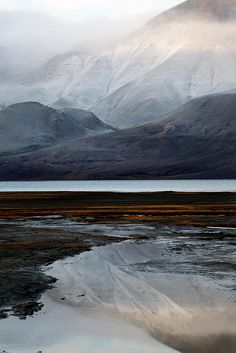 Longyearbyen at the end of the Isfjorden estuary in central Svalbard. Svalbard is a huge collection of islands in the High Arctic under the guardianship of Norway.