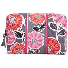 Vera Bradley Large Cosmetic in Cheery Blossoms (28 CAD) ❤ liked on Polyvore featuring beauty products, beauty accessories, bags & cases, cheery blossoms, travel, travel accessories, toiletry bag, cosmetic bags, toiletry kits and travel toiletry case