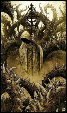 Harapiento avatar de Hastur. Autor desconocido.