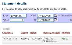 I am getting paid daily at ACX and here is proof of my latest withdrawal. This is not a scam and I love making money online with Ad Click Xpress.  Join for FREE and get 10$ + 5$ Ad and Media value packs from ACX.  My #97 Withdrawal Proof of online income from AdClickXpress. http://www.adclickxpress.com/?r=acxpavle&p=p3p