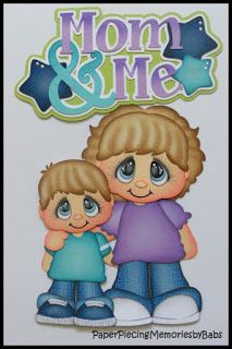 Mom and Me created by PAPER PIECING MEMORIES BY BABS, pattern by Cuddly Cute Designs