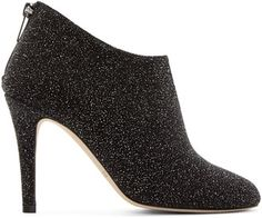 Jimmy Choo Black Pixelated Leather Mendez Ankle Boots