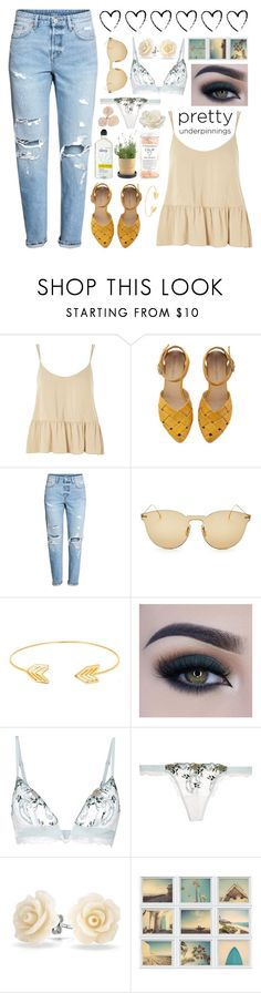 """""""Odessa"""" by brie-the-pixie ❤ liked on Polyvore featuring Topshop, Illesteva, Lord & Taylor, Too Faced Cosmetics, La Perla, Bling Jewelry and Allstate Floral"""