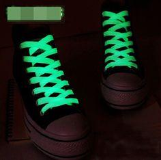 100 CM 1 Pairs = 2 ADET Spor Erkek Kadın Koyu Floresan Işıklı Ayakkabı Bağı Kızdırma Ayakkabı Bağı Atletik Düz ayakkabı Bağcıkları ASL661A
