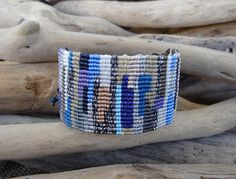 Blue-Purple Patchwork Macrame BraceletHandknotted
