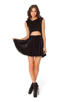 Burned Zebra Skater Skirt - LIMITED by Black Milk Clothing $60AUD